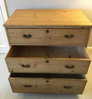 Stripped Pine Chest of 3 Drawers (7 of 8)