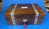 Victorian Rosewood Jewellery Box  With Inlay (3 of 15)