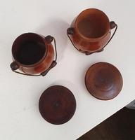 Lovely Pair of Georgian Treen Spice Pots (5 of 6)