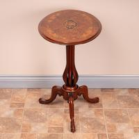 Good Quality Marquetry Walnut Occasional Tip Table (4 of 14)