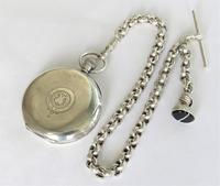 Antique silver Dimier Freres pocket watch and chain (3 of 5)