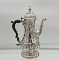 18th Century Antique George III Sterling Silver Rococo Coffee Pot London 1765 William & James Priest (5 of 10)