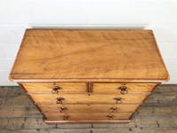 Victorian Satin Birch Chest of Drawers (2 of 9)
