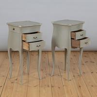Pair of Large French Painted Bedside Cabinets (3 of 9)