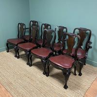 Set of 8 Edwardian Antique Walnut Dining Chairs (7 of 13)