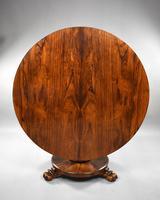 19th Century William IV Rosewood Circular Breakfast Table