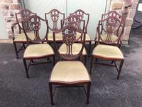 Quality Antique Mahogany Dining Table & 8 Chairs (6 of 13)