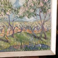 Impressionist Artist Gaussen - Oil on Board - Olive Trees c.1945 (6 of 9)