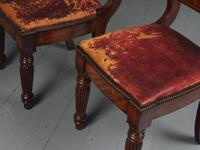 Rare Pair of Brass Inlaid Mahogany & Leather Library Chairs (11 of 19)