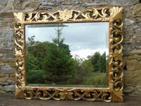 Large Antique Florentine Mirror with Crest (10 of 10)