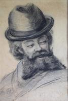 19th Century Charcoal Drawing Bearded Gent (3 of 10)