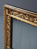 Antique Gilded & Ebonised Rectangular Wall Mirror (13 of 14)