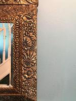 Antique Repousse Detail Cushion Mirror (7 of 10)