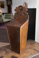 Antique Mahogany Inlaid Candle Box (4 of 4)