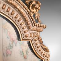 Antique Gesso Wall Mirror, Italian, Giltwood, Glass, Shield, Victorian c.1900 (6 of 10)