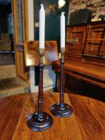 19th Century Wooden Turned Candlesticks (4 of 8)