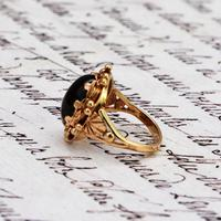 The Vintage Ornate Set Cabochon Ring (5 of 6)