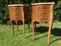 Pair of French Marquetry Bedside Tables (8 of 8)