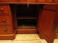 Victorian Antique Pedestal Desk, Hobbs & Co London (13 of 24)