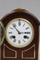French Belle Epoque Mahogany Mantel Clock by L.P Japy (3 of 8)