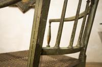 Charming Near Pair of Regency Green Painted Occasional / Elbow Chairs (11 of 14)
