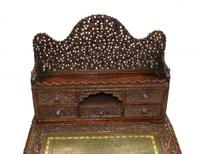 Burmese Davenport Desk Antique Hand Caved Burma Furniture 1885 (9 of 11)