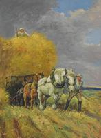 Oil Painting of Working Horses & Farmers (4 of 8)