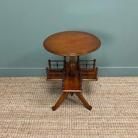 Antique Walnut Revolving Victorian Bookstand Table (4 of 6)
