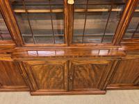 William IV Mahogany Breakfront Bookcase (8 of 15)