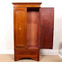 Edwardian Wardrobe Inlaid Mahogany Mirrored (2 of 10)