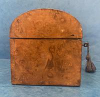 Victorian Brassbound Burr Walnut Stationary Box (5 of 11)