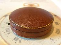Antique Jewellery or Fob Watch Box 1910 Edwardian Burgundy Leatherette Satin Lined (2 of 9)