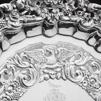 Magnificent Georgian Sterling Silver Tray / Salver with Military Lieutenant Interest - James Fray 1833 (16 of 23)