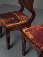 Rare Pair of Brass Inlaid Mahogany & Leather Library Chairs (10 of 19)