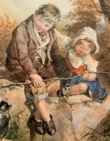John Henry Mole Exhibition Quality Regency Period Watercolour Painting (3 of 13)