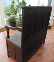 Country Oak Cottage Settle 1820 (8 of 10)