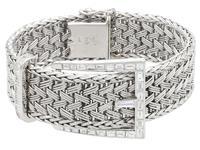 1.50ct Diamond & 18ct White Gold Bracelet - Vintage French c.1940 (5 of 10)