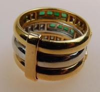 Stunning 18ct Gold, Diamond & Emerald Ring 17/n in Original Box 20th Century (5 of 10)