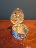 Antique Silver Heart Shaped Trinket Box (5 of 7)