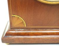 Impressive Thin Mahogany Edwardian Lancet Clock Timepiece Mantel Clock (5 of 11)