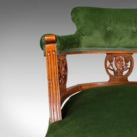 Antique Tub Chair, English, Velvet, Mahogany, Elbow, Seat, Edwardian c.1910 (11 of 12)