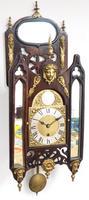 Very Rare English Fusee 5 Inch Dial Wall Clock Mahogany Gothic Ormolu Wall Clock by James Parker Cambridge (6 of 12)
