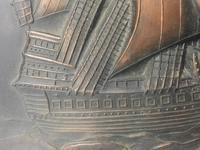 Antique Art Nouveau Marine Bronze Relief Wall Plaque Spanish Galleon Ship 1668 (13 of 21)
