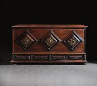 Imposing 17th Century Portuguese Colonial Mahogany & Brass Chest (2 of 8)