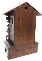 Rare Cuckoo Mantel Clock – German Black Forest Carved Bracket Clock (12 of 12)