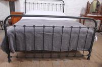 Lovely Simple French All Iron King Size Bed (4 of 7)
