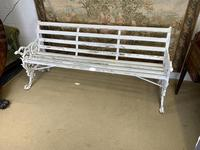 Large White Cast Iron Garden Bench (2 of 6)