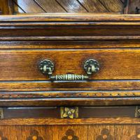 Victorian Holland & Sons Antique Oak Sideboard (8 of 9)