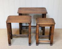 Solid Oak Nest of Three Tables (5 of 9)