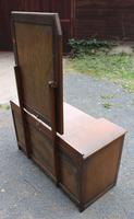 1940s Oak Dressing Table with Linen Fold Detail (4 of 4)